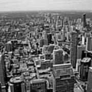 Toronto Ontario Scrapers In Black And White Poster