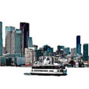 Toronto Portlands Skyline With Island Ferry Poster