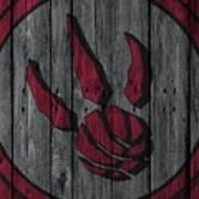 Toronto Raptors Wood Fence Poster