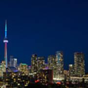 Toronto Skyline And World Pride Poster