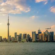 Toronto Skyline At Sunset Poster