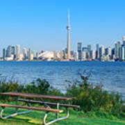 Toronto Skyline From Park Poster