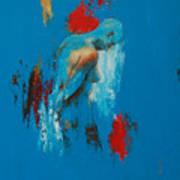 Torso In Blue Poster