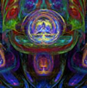 Tourbillons Multicolores Poster