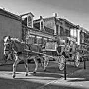 Touring The French Quarter Monochrome Poster