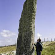 Tourist Admires The Trushal Stone Poster