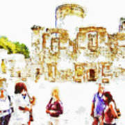 Tourists In The Castle Poster