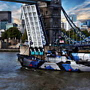 Tower Bridge And Boat Poster