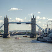Tower Bridge And Hms Belfast 3 Poster