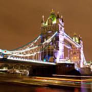 Tower Bridge Evening Poster
