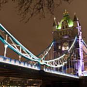 Tower Bridge Lights Poster