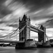 Tower Bridge, River Thames, London, England, Uk Poster