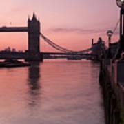 Tower Bridge Sunrise Poster by Donald Davis