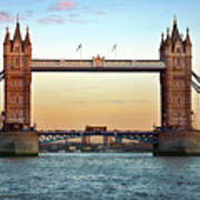 Tower Bridge- Sunset In London Poster