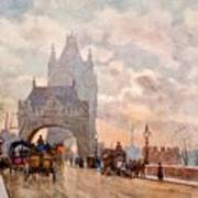 Tower Of London Bridge Poster