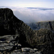 Tower Ridge From Ben Nevis Summit Fort William Lochaber Invernesshire Scotland Poster