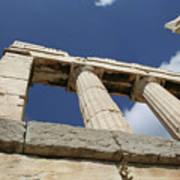 Towering Grecian Pillars Poster