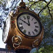 Town Clock Poster
