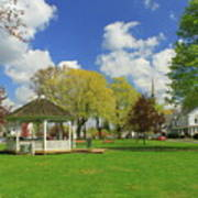 Town Common In Spring Brookfield Massachusetts Poster
