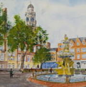 Town Hall Square Leicester Poster