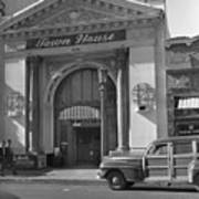 Town House And Woody Station Wagon, Alvarado Street - Monterey   Poster
