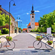 Town Of Bicycles Koprivnica Street View Poster