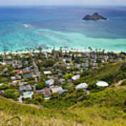 Town Of Kailua With Mokulua Islands Poster by Inti St. Clair
