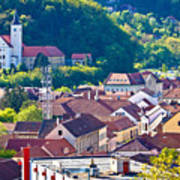 Town Of Krapina Rooftops View Poster