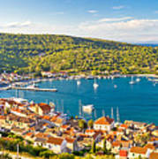 Town Of Vis Panorama From Hill Poster