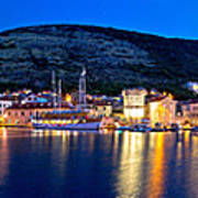 Town Of Vis Waterfront Evening Panorama Poster