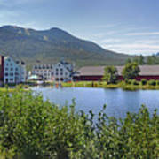 Town Square By The Pond At Waterville Valley Poster