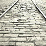 Tracks In The Road Poster