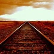 Marfa Texas America Southwest Tracks To California Poster