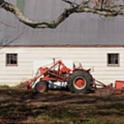 Tractor Barn Branch Poster
