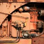 Tractor Engine V Poster