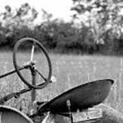 Tractor In Long Grass Poster