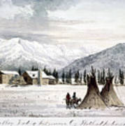 Trading Outpost, C1860 Poster