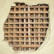 Traditional Bamboo Mud Wall Construction Poster