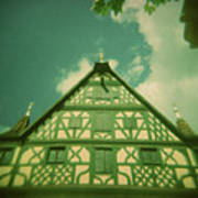 Traditional House Roth Germany Cross Process Holga Photography Poster