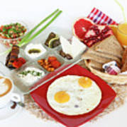 Traditional Israeli Breakfast Poster