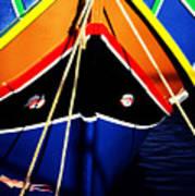 Traditional Maltese Fishing Boat Poster