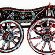 Traditional Painted Donkey Cart  Poster