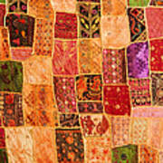 Traditional Patchwork Tapestry Poster