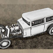 Traditional Styled Hot Rod Sedan Poster