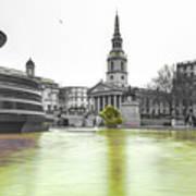 Trafalgar Square Fountain London 3c Poster