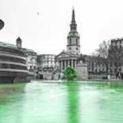 Trafalgar Square Fountain London 3f Poster