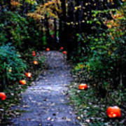 Trail Of 100 Jack-o-lanterns Poster
