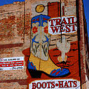 Trail West Mural Poster