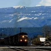 Train Entering Truckee California Poster