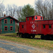 Train - Erie Rr Line Caboose Poster